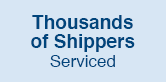 Thousands of Shippers Serviced