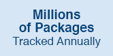 Millions of Packages Tracked Annually