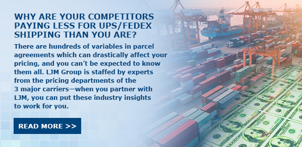 Why are your competitors paying less for shipping than you are?