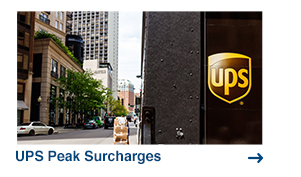 UPS Peak Surcharges